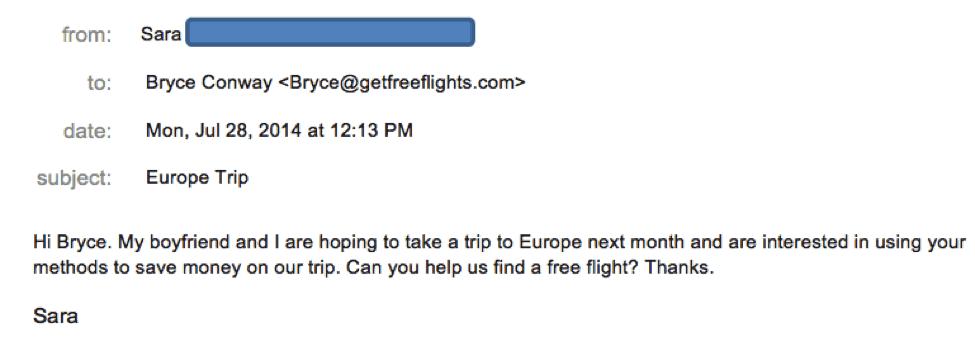 Sara Travel Hacking