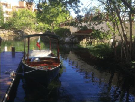 Mayakoba, Mexico boating on vacation