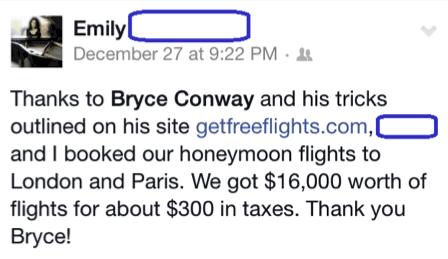 Emily Huge Flight Savings