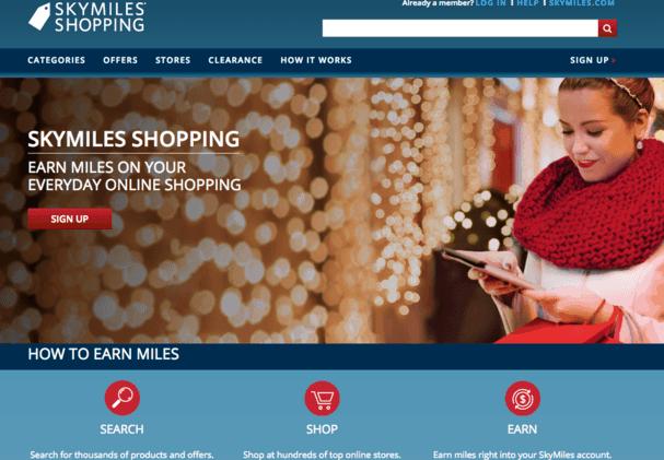 Delta Sky Miles Shopping Portal