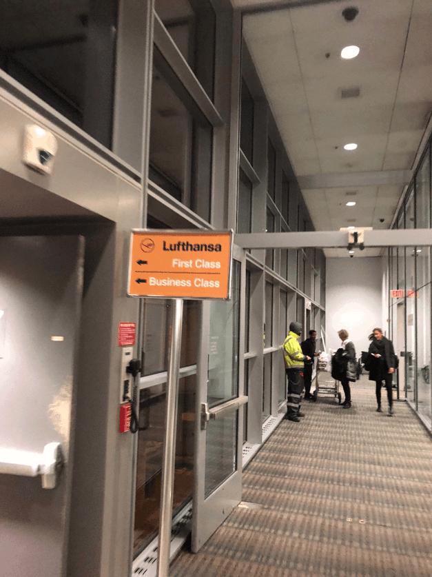 Lufthansa Business Class Boarding Dulles 1