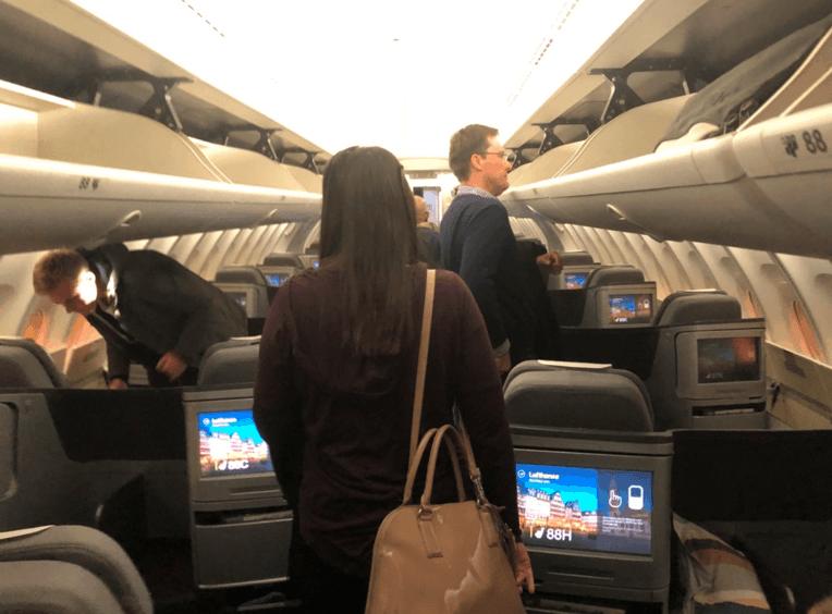 Lufthansa Business Class Upper Deck 1