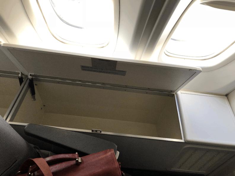 Lufthansa Business Class Upper Deck Window Storage 2