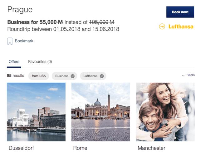 Lufthansa Mileage Bargain 1