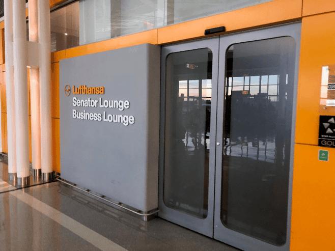 Lufthansa Senater and Business Lounge Entrance 2