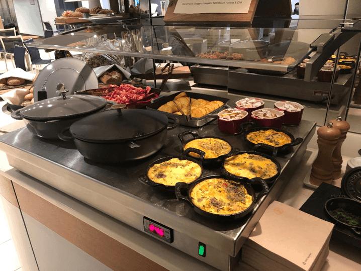 Lufthansa Welcome Lounge Breakfast