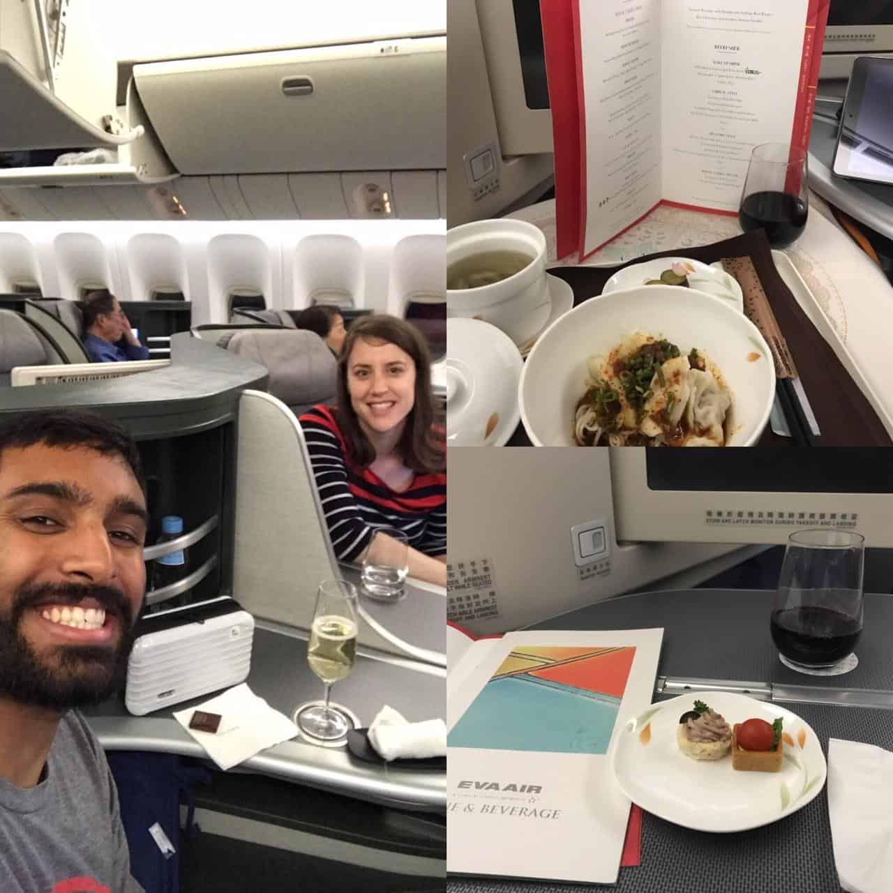 roundtrip south Korea Taiwan points miles-Business class on EVA Air Taiwan→US
