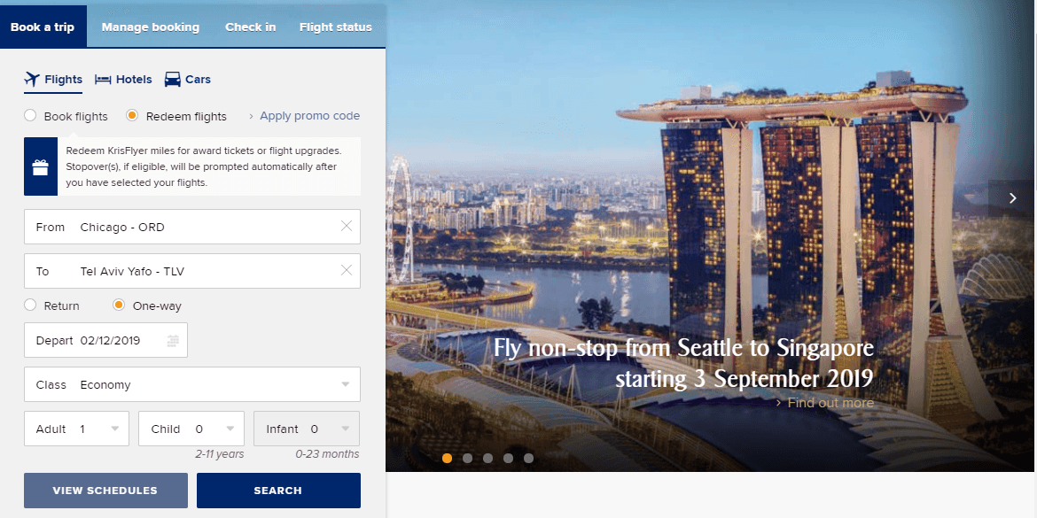 Cards to Help You Earn United Miles-Singapore Airlines KrisFlyer