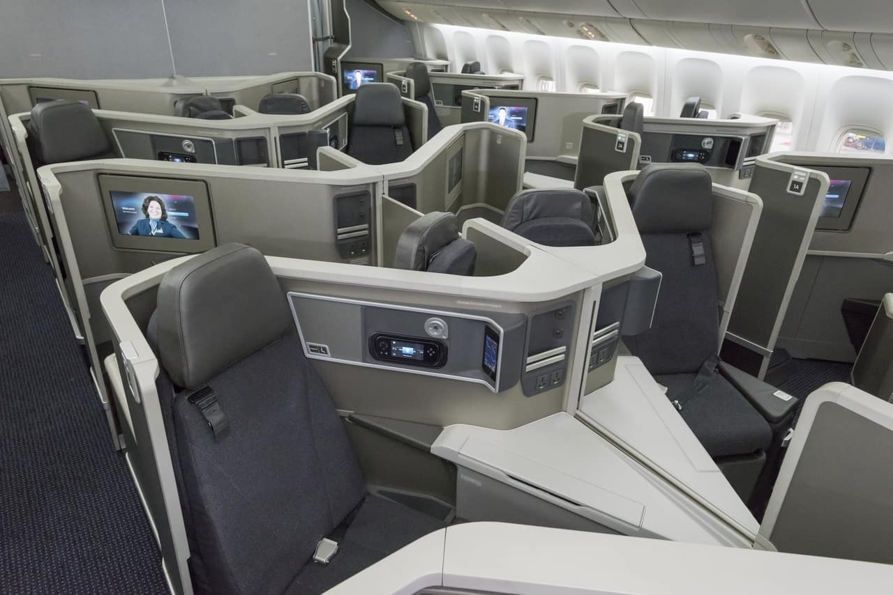 how to fly to europe for free-How To Book With American AAdvantage Miles-Aircraft Interiors AA Business Cabin