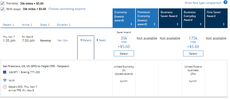 How to Book with United from SFO to TPE