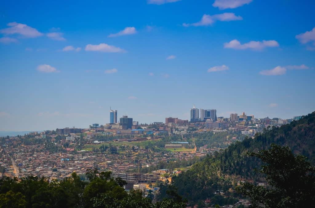 The city Kigali in Rwanda