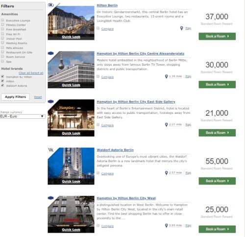 Hilton Berlin points