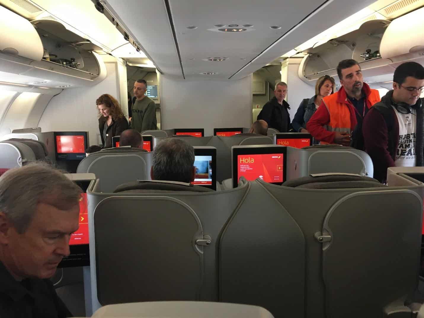 Iberia business class cabin