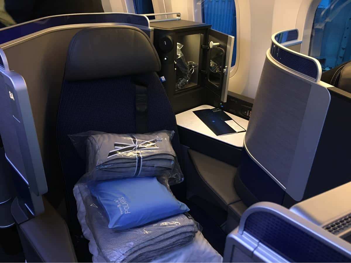 My seat in United Polaris