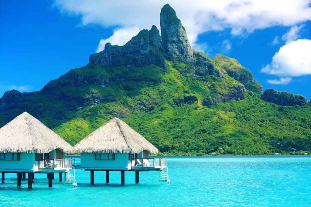 Using Alaska Miles for Fiji Airways to Bora Bora Tahiti Mt Otemanu