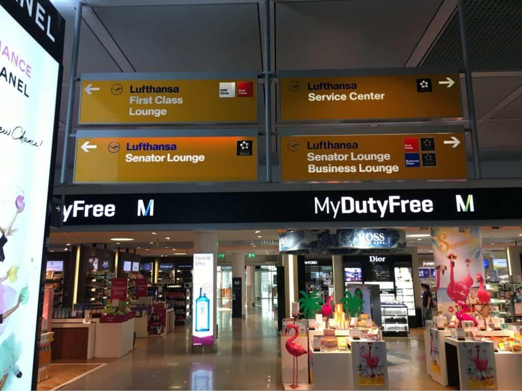 Duty Free in Munich near Lufthansa Business Class Lounge