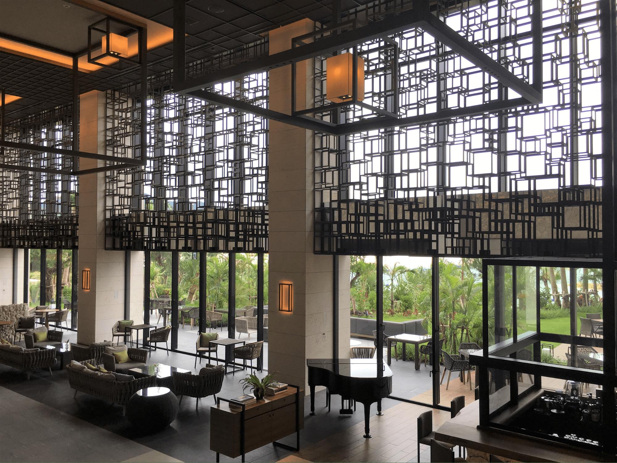 Hotel Lobby - Hyatt Regency Seragaki Island, Okinawa, Japan Review