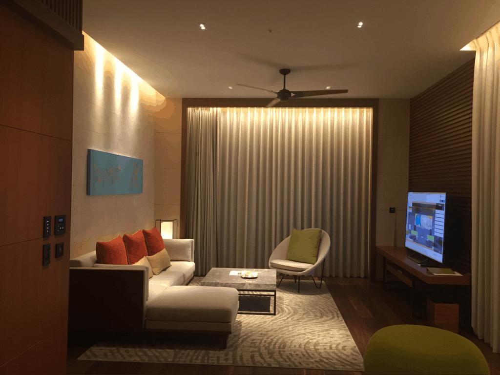 Living Room - Hyatt Regency Seragaki Island, Okinawa, Japan Review
