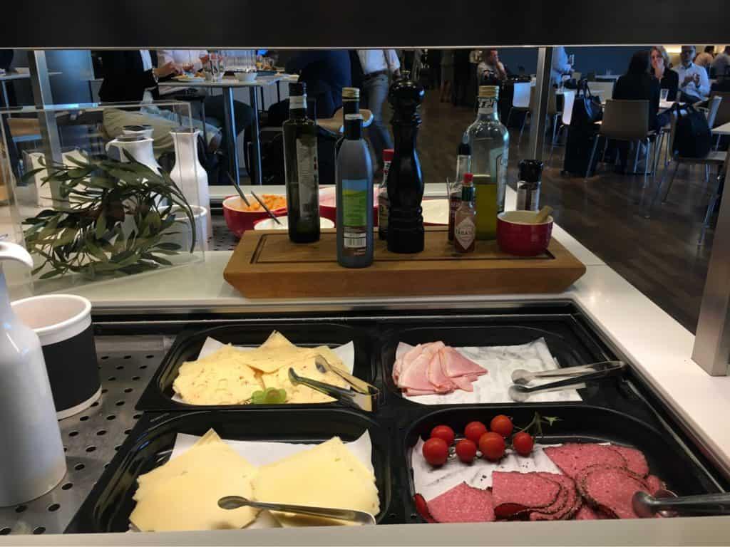 Lufthansa Business Class Lounge in Munich Airport-food