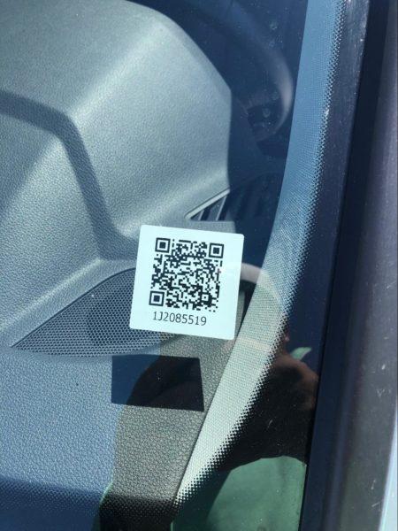 QR code of vehicle