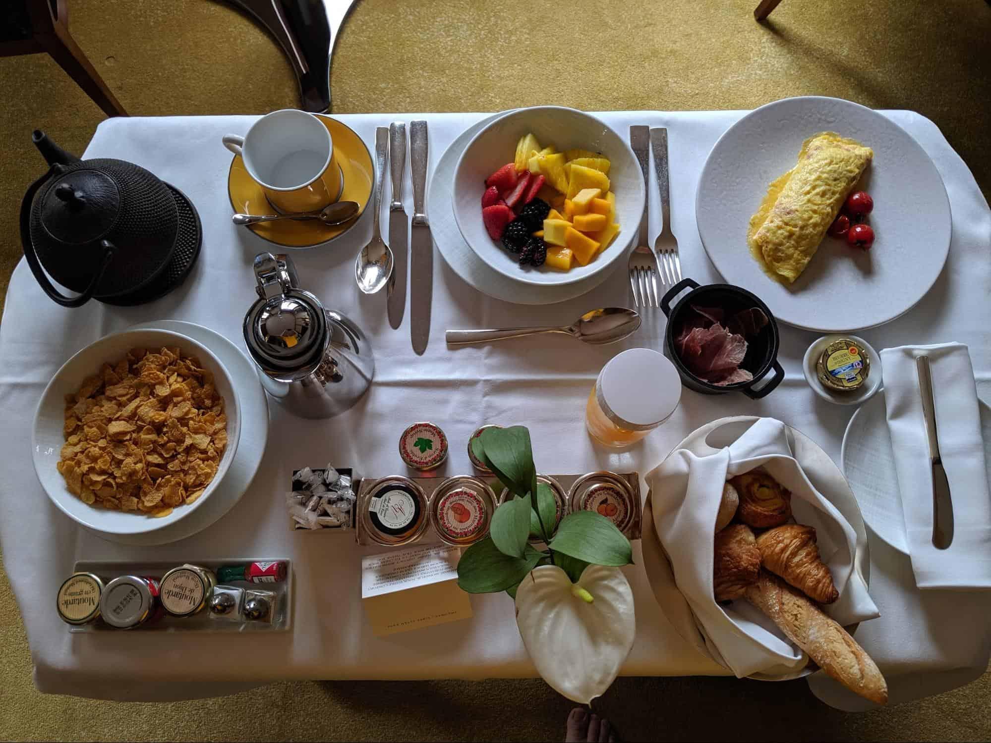 Room Service American Breakfast Park Hyatt Paris-Vendome