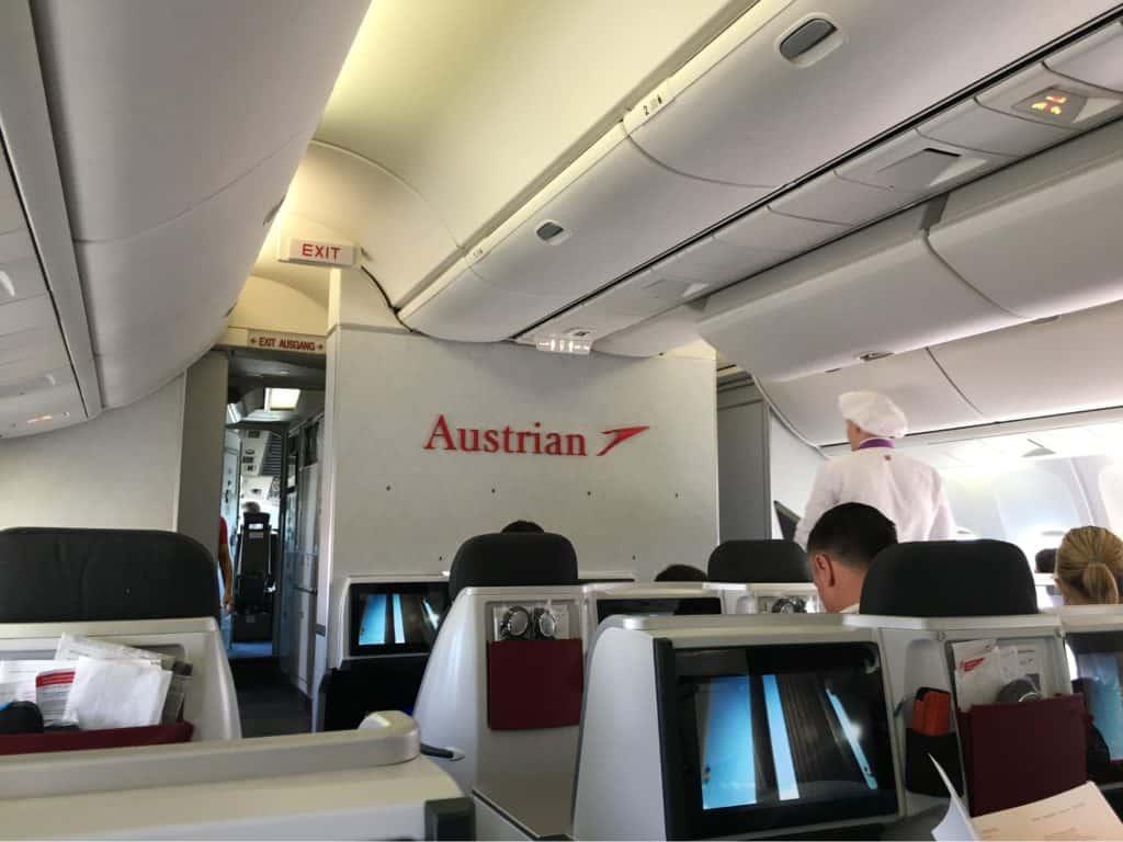 Vienna to Newark Flight on Austrian Airlines