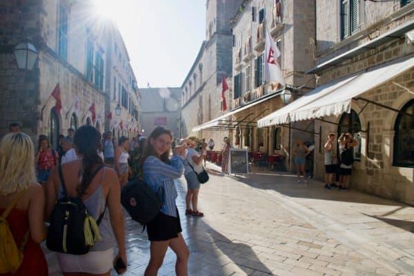 Vivien presenting Dubrovnik