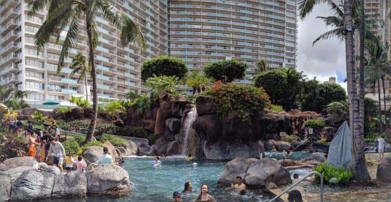 Hilton Hawaiian Village Waikiki Beach Resort Paradise Pool