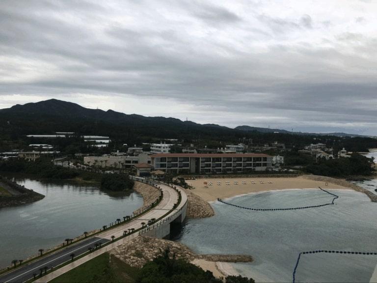 View from the Balcony at the Hyatt Regency Seragaki Island, Okinawa, Japan