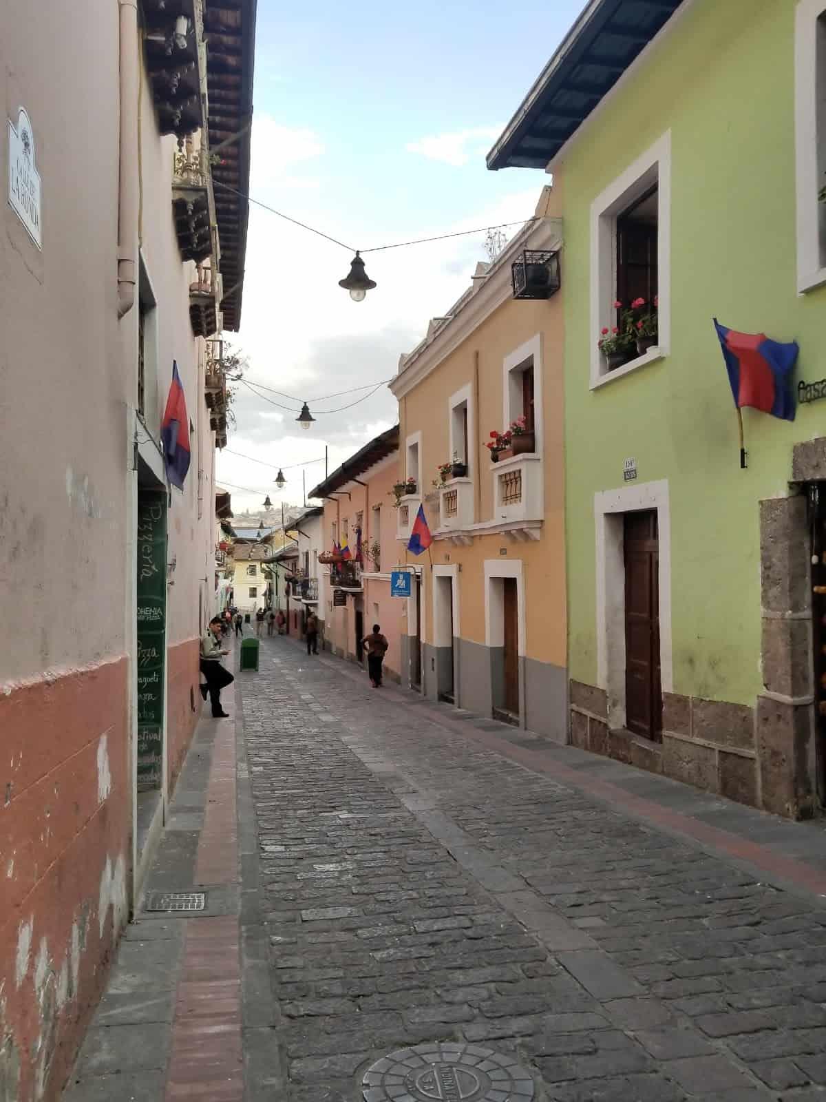 Calle La Ronda in Quito.
