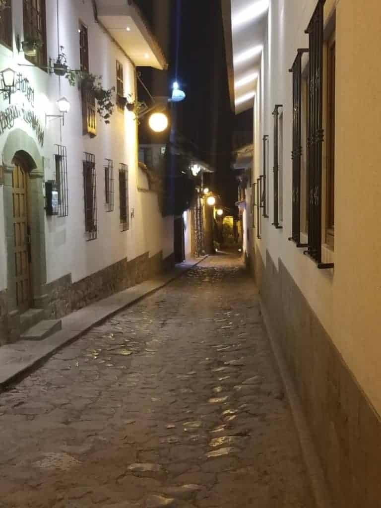 Exploring Cusco at night