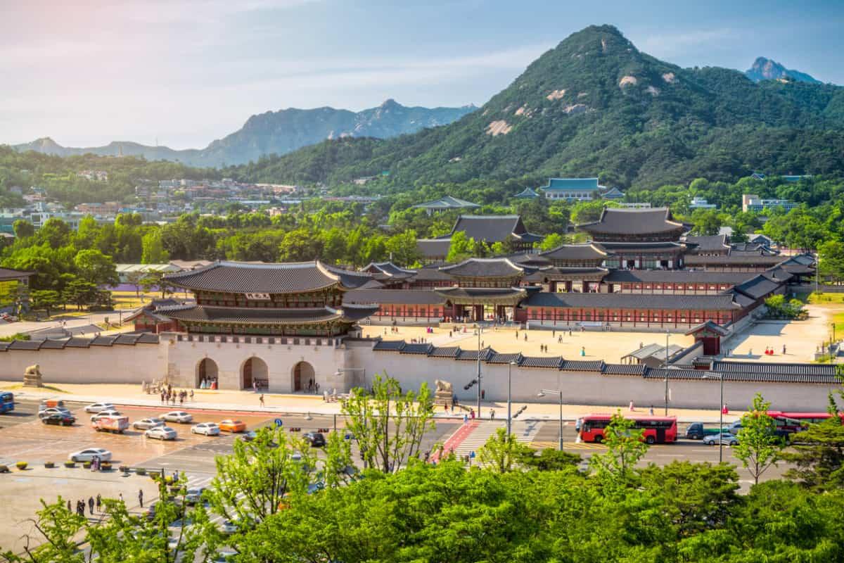 Gyeongbokgung palace and the Blue House , Seoul, South Korea