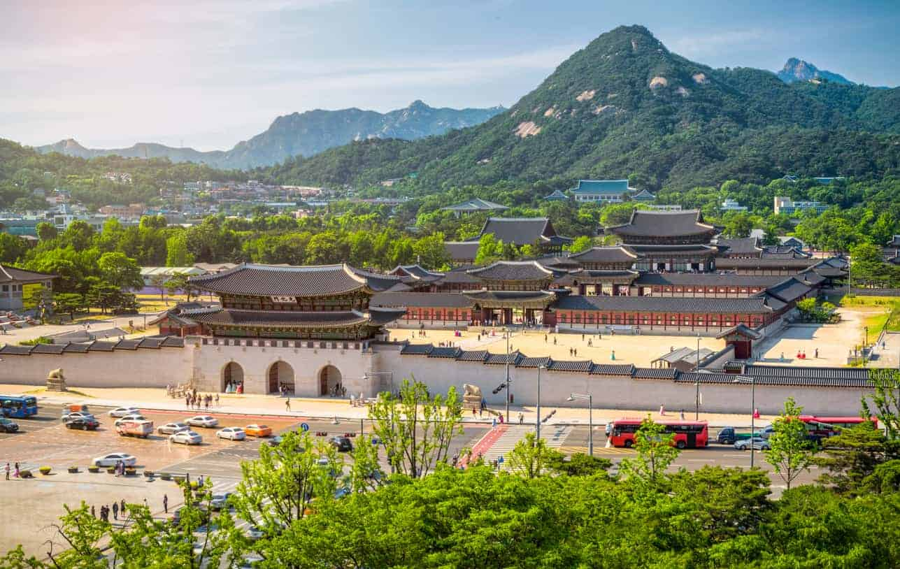 Gyeongbokgung palace and the Blue House , Seoul, South Korea