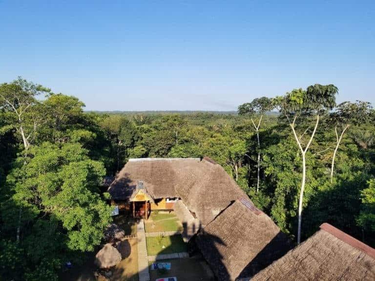 Caiman Lodge in the Amazon rainforest.