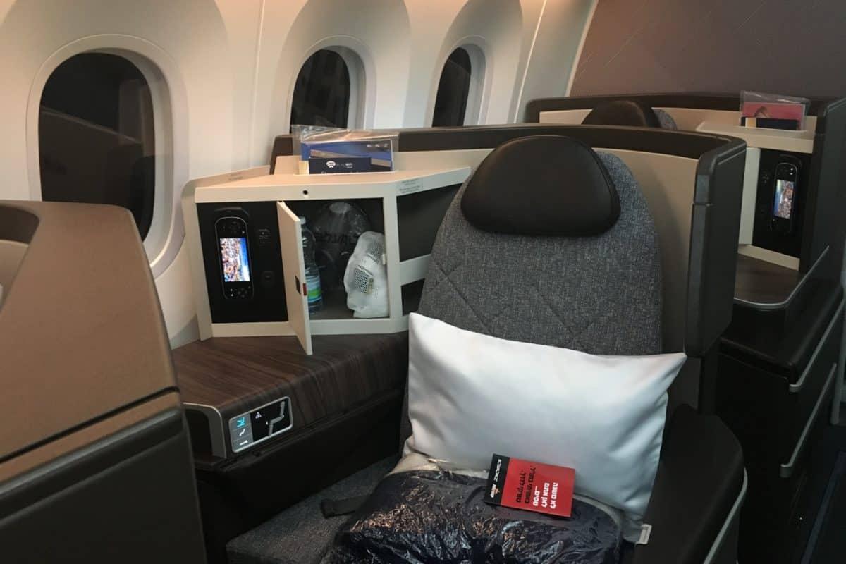 El Al Business Class Tel Aviv-cabin