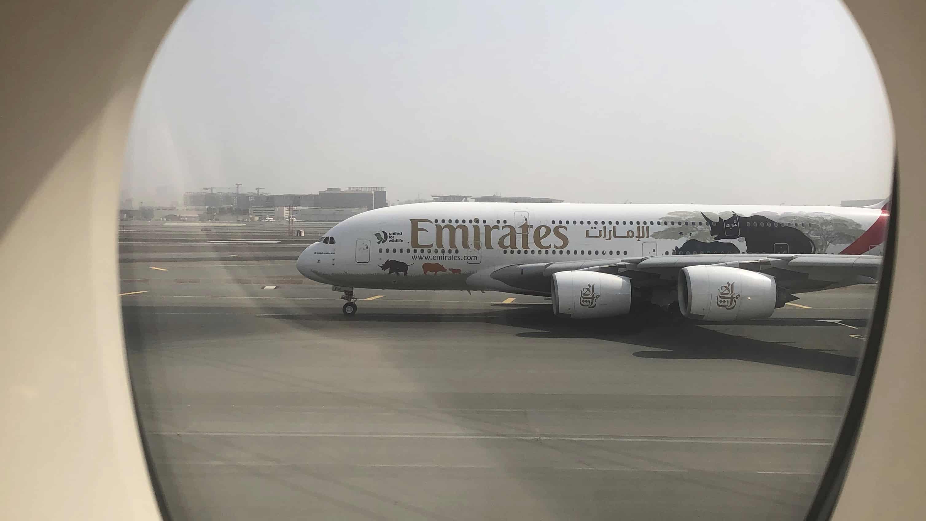 Emirates A380 at Dubai Airport