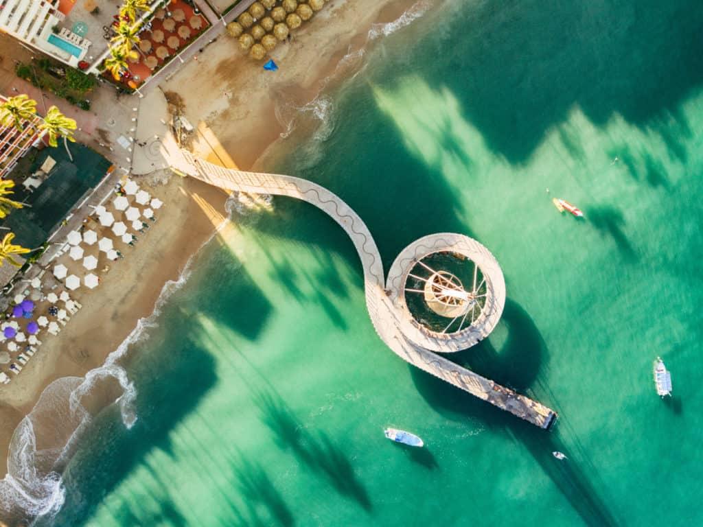 aerial view of Puerto Vallarta Mexico