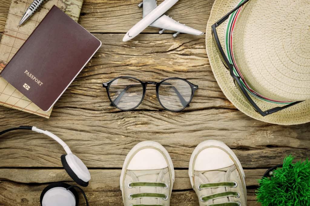 essential travel items eyeglasses