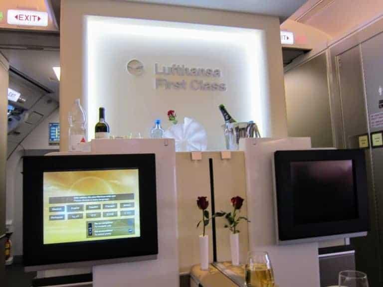 Lufthansa new first class cabin