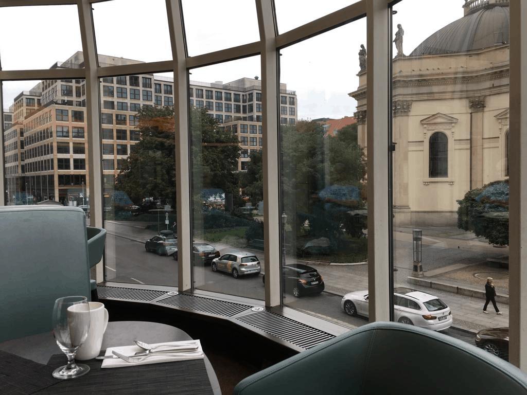 Hilton Berlin Review-breakfast-near window