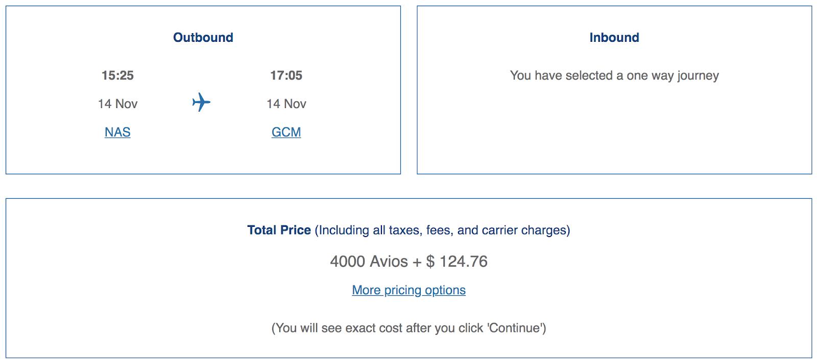 Maximize Your British Airways Avios: NAS-to-GCM-on-BA