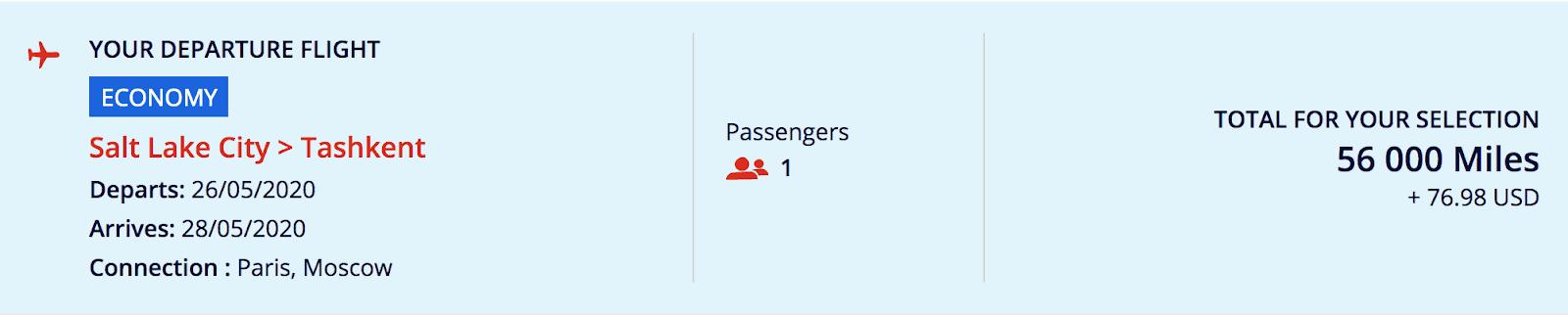 03. Air France SLC to Tashkent