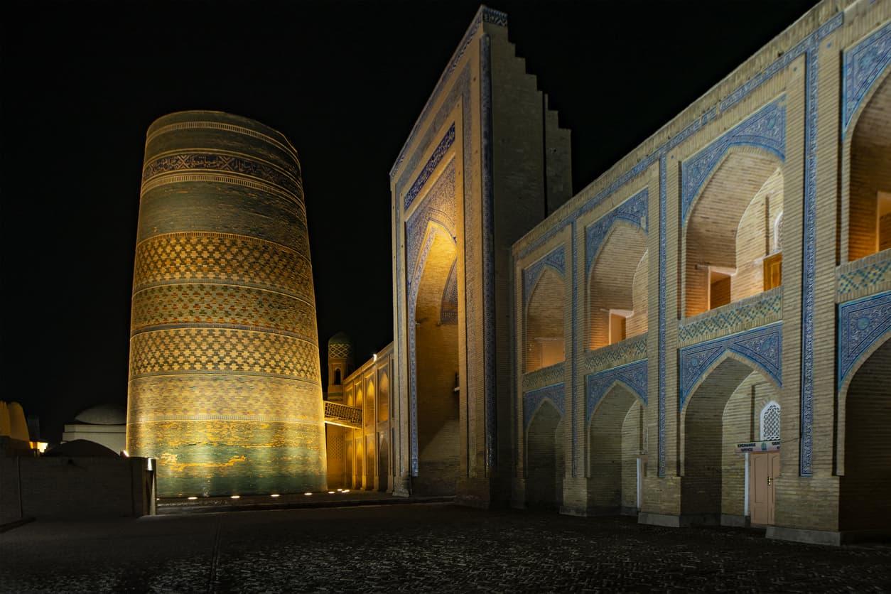 Islam architecture, Kalta Minor Minaret in Khiva, silk road, Uzbekistan
