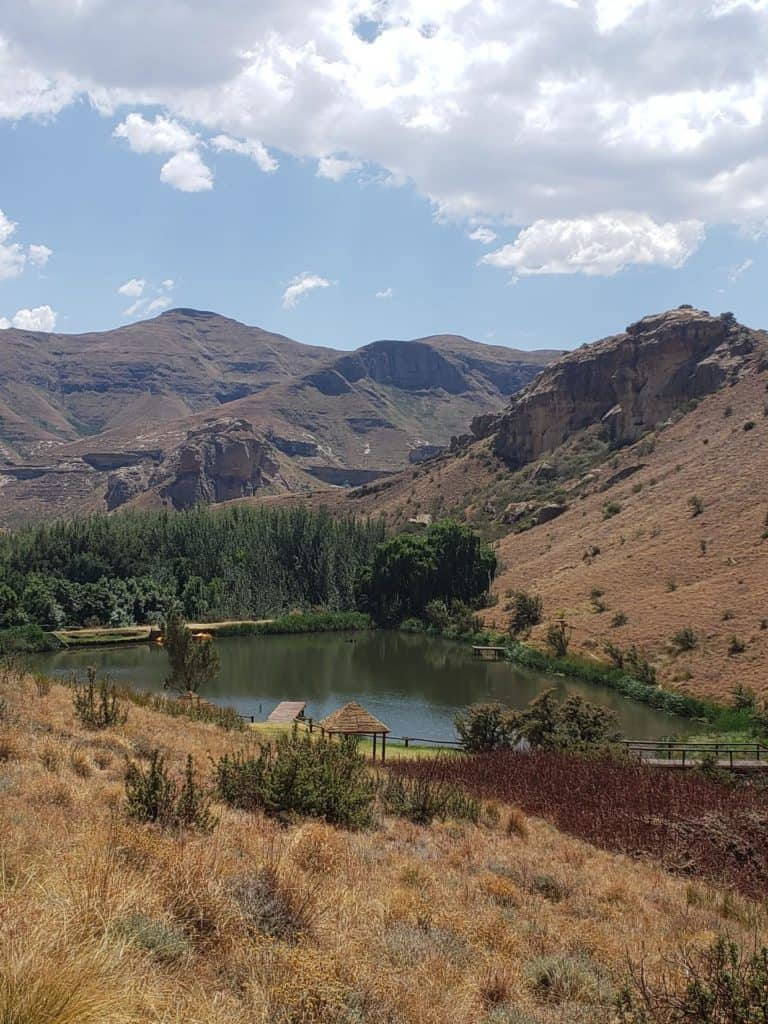 The dam on the property-Kiara Lodge in Clarens