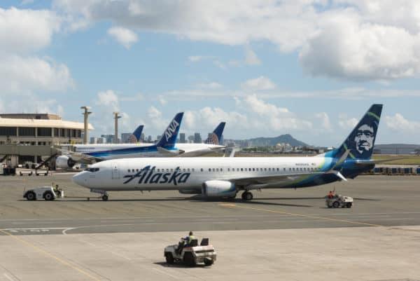 Alaska Airlines in Honolulu Hawaii
