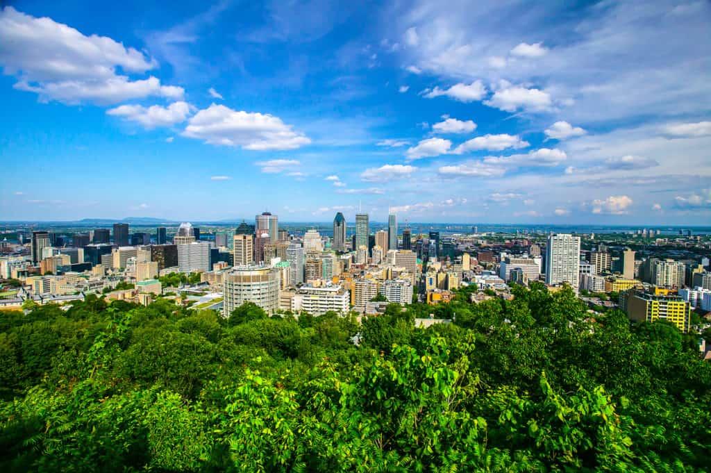 Montreal City Skyline