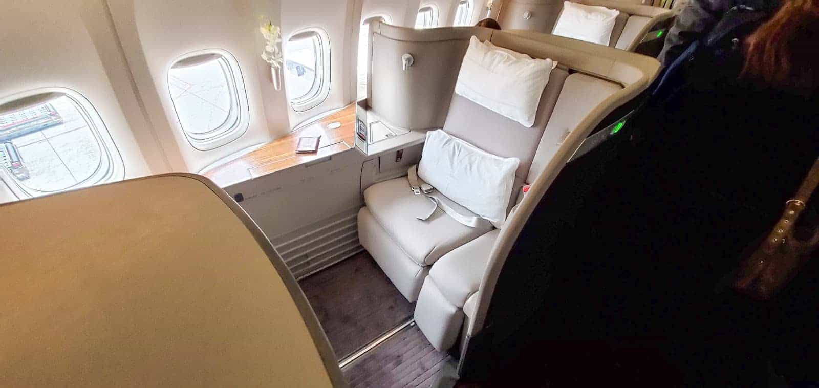 Cathay Pacific first-class seat isn't