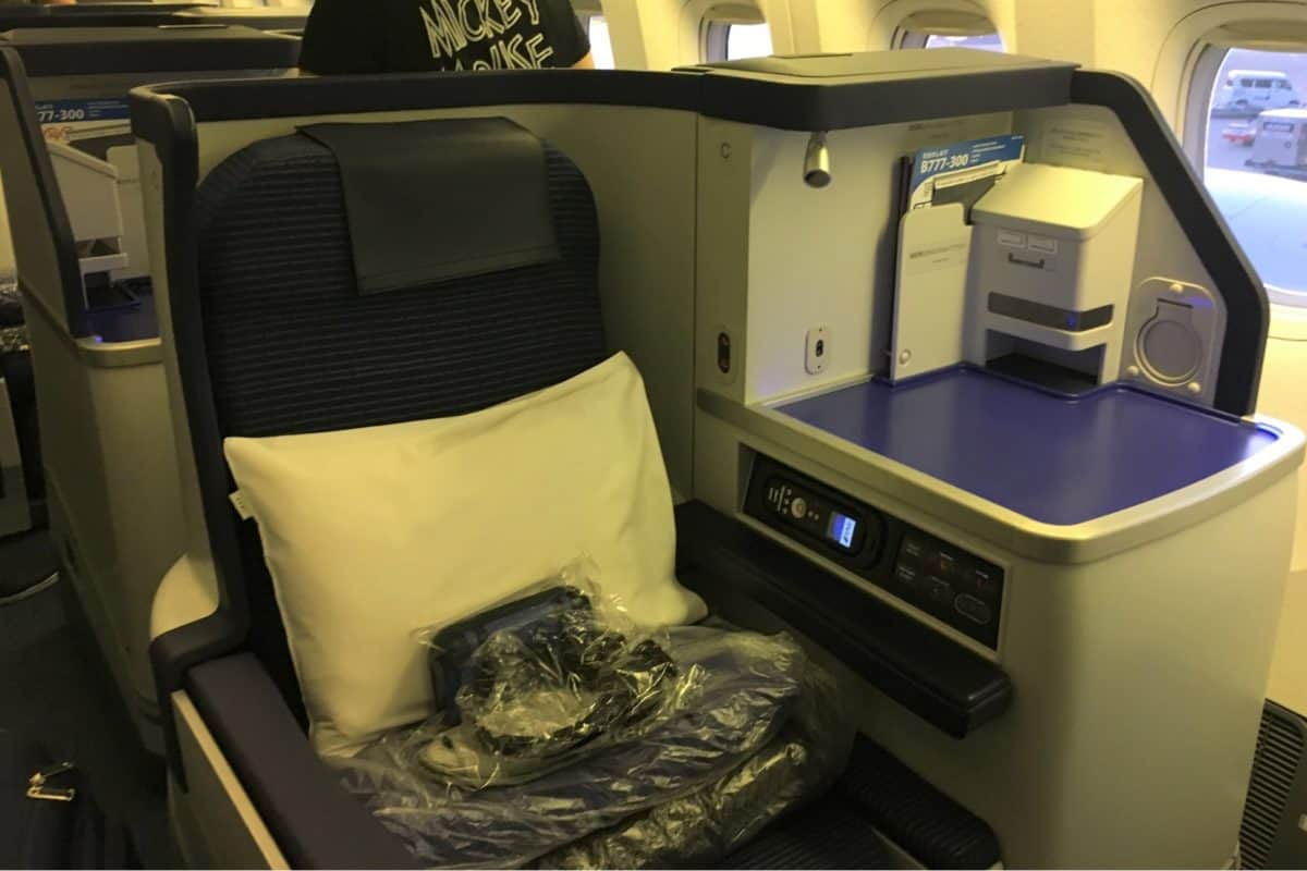 ANA Business Class Cabin And Seat