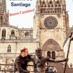 Man resting on bench in Santiago de Compostela