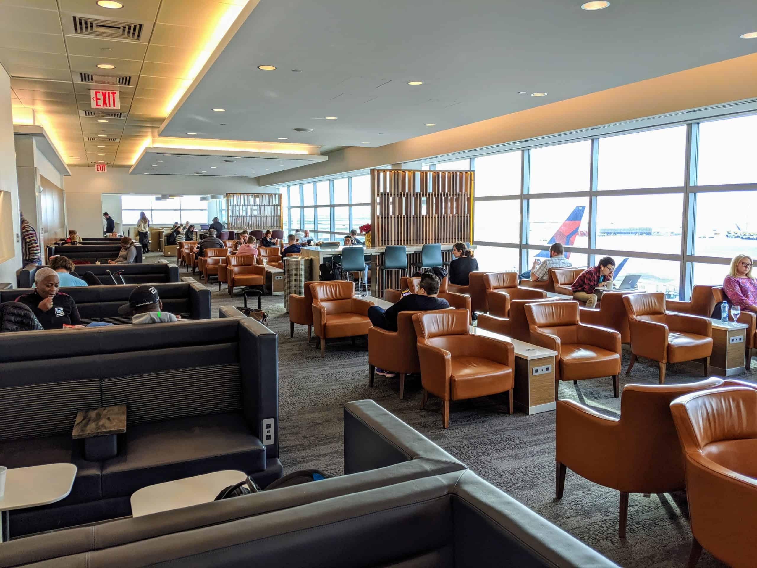 Delta Sky Club Seating Area JFK Terminal 4